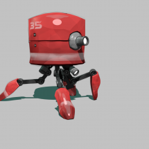 C4D / Robot – Walk cycle