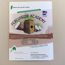 Flyers et affiches «Percussion Academy»